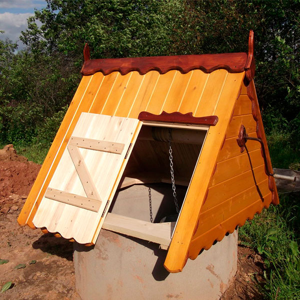 Установка колодца и домика