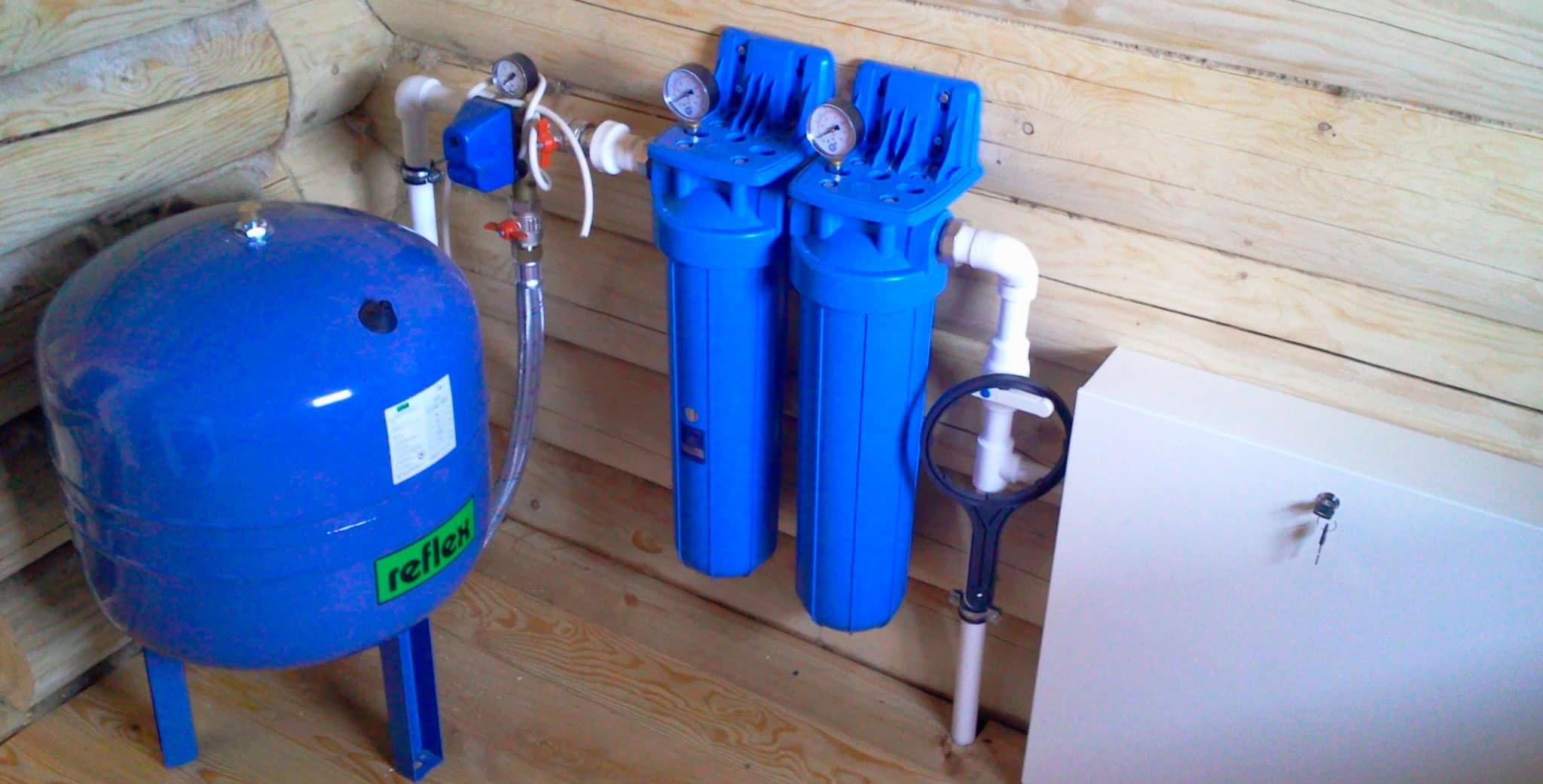Водоснабжение из колодца и установка сантехники