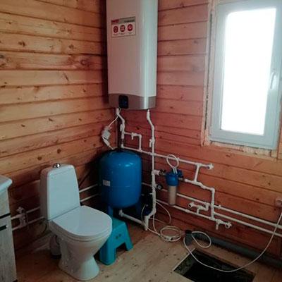 Установка системы водоснабжения и сантехники
